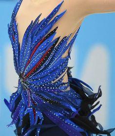 Blue Figure Skating / Ice Skating dress inspiration for Sk8 Gr8 Designs.