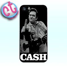 Johnny Cash Middle Finger Case  iPhone 5 Samsung by CasesandTees, $12.99