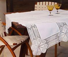 Схемы вязания каймы и обвязывания квадратов ткани: