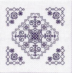 The Garden Mini Blackwork Kit by Holbein Embroideries Blackwork Cross Stitch, Cross Stitch Borders, Cross Stitching, Cross Stitch Patterns, Kasuti Embroidery, Cross Stitch Embroidery, Embroidery Patterns, Bordado Tipo Chicken Scratch, Blackwork Patterns