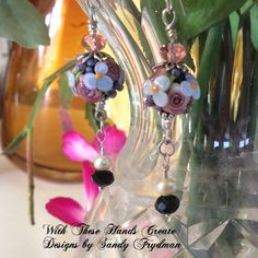 Spring Bouquet Earrings by WithTheseHandsCreate on Etsy