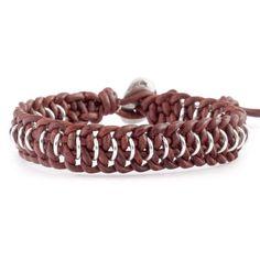 Chan Luu - Braided Natural Dark Red Leather Single Wrap Bracelet, $65.00 (http://www.chanluu.com/mens-bracelets/braided-natural-dark-red-leather-single-wrap-bracelet/)