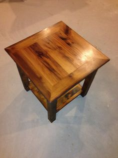 Barnwood End Table Reclaimed Wood By OreDockDesign On Etsy. Made With Over  80 Year Old
