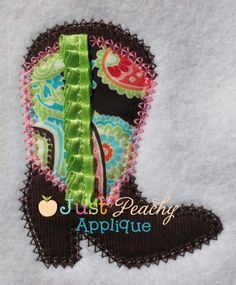 Boot Applique Design