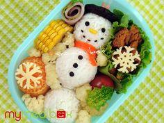 Ideas para preparar Bentos en Navidad | Recetas para bebés y niños. Alimentación durante el embarazo y la infancia
