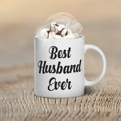 Valentine's Day Coffee Mug, Best Husband Ever, Gifts, Mugs, Valentines Day Gift for Her, Him, Couple's Gift Ideas, Couples, World's Best