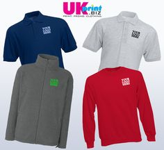 Embroidered Clothing only £39! no set up fees  Sole Trader Offer   2 Polos  1 Fleece  1 Sweater   Delivery is only £7.50 to anywhere in the UK or NI.  The offer includes breast embroidery of the logo/text of your choice upto 10cm x 10cm, just email the image once you have placed the order and we will do the rest.     hello@ukprint.biz  or via telephone by calling our sales team on 0845 544 2432 or by emailing us at hello@ukprint.biz