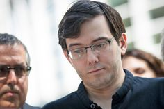 """On Thursday, US prosecutors petitioned a court to revoke Martin Shkreli's $5 million bail due to a threatening remark made on Facebook about Hillary Clinton.  Prosecutors said it was evidence he posed a """"danger to the community."""""""