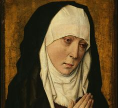 Mater Dolorosa (in Augustinessenkledij). D. Bouts, 1470. Londen, Nationel Gallery.