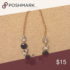Navy/crystal necklace Navy and crystal J. Crew Factory Jewelry Necklaces