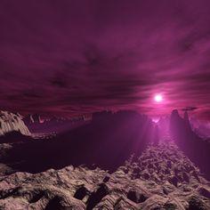 Purple Sky iPad Wallpaper HD