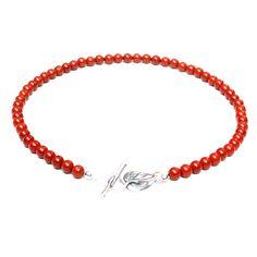 Red stone short necklace with by elettrarossa Gemstone Jewelry, Silver Jewelry, Red Jasper, Short Necklace, Leaf Shapes, Jewelry Making, Gemstones, Etsy, Gems