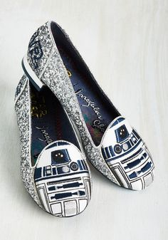 The R2-D2 flats are so cool!  Mod Cloth has a couple other Star Wars ones too.