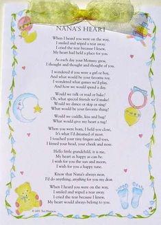 Nana's Heart Card- share it with the Nana's you love.