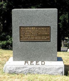 Grave Marker- Walter Reed, at Arlington Cemetery.