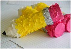 DIY Mini Pencil Piñatas