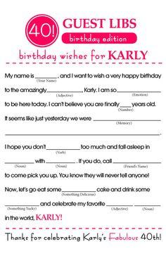 BIRTHDAY MAD LIBS by ForMomentsThatMatter on Etsy
