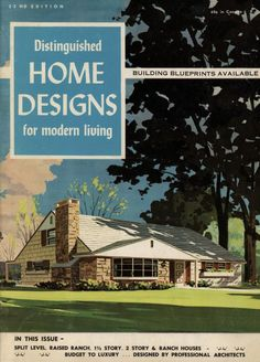 Distinguished Home Designs for Modern Living, 1963.  Plan Publishers Inc. From the Association for Preservation Technology (APT) - Building Technology Heritage Library, an online archive of period architectural trade catalogs. Select an era or material and become an architectural time traveler.