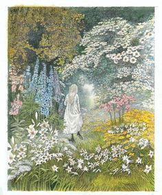 """once-upon-a-time-illustration: """" The Secret Garden. Illustrations by Inga Moore """" Art And Illustration, Book Illustrations, The Secret Garden, Secret Gardens, Garden Drawing, Garden Art, Garden Ideas, Garden Theme, Herb Garden"""