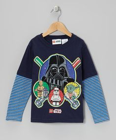 Navy & Blue LEGO 'Star Wars' Layered Tee - Kids by Star Wars on #zulily