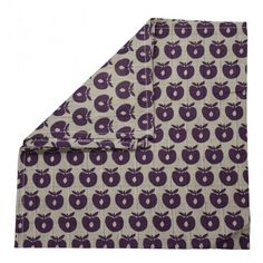 Cloth, gray with purple apples, Smafolk