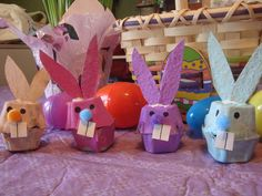 Egg Carton bunnies