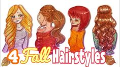 HOW TO DRAW 4 FALL HAIRSTYLES || #FALLSERIES-2017☕️
