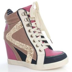 Jodie01 Fuchsia Hidden Wedge Sequin Trendy Design Lace Up Fashion Sneaker Heel-7 Sully's, BOOTS and SNEAKERS if you wish to buy just CLICK on AMAZON right HERE http://www.amazon.com/dp/B00D2K0GTU/ref=cm_sw_r_pi_dp_dZi1sb09P5THGVJW