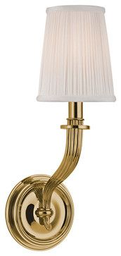 Hudson Valley Lighting Danbury-Wall Sconce Aged Brass - traditional - Wall Sconces - Luxury Lighting Direct
