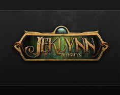 Jeklynn Heights Logo by ~xxbenji on deviantART Game Font, Game Ui, Video Game Logos, Video Game Art, Fantasy Logo, Entertainment Logo, Game Logo Design, Game Props, Game Title