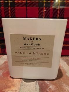 M Of W G Makers Wax Goods 16 39 Oz Candle Vanilla Tabac Rare