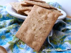 Gluten Free Dairy Free Crackers