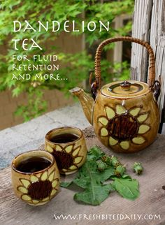 Springtime dandelion tea for fluid retention and more.... @scrapwedo http://aglaebaumesbulles.blog4ever.com/ apprécie  cette recette