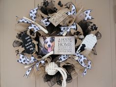 """""""FOR ALL DOG LOVERS""""...44 breeds available for this wreath."""