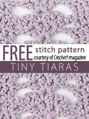 Tiny Tiaras Stitch Pattern.  Download here, courtesy of www.crochetmagazine.com.