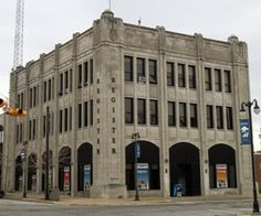 The Sandusky Register building was originally built for the Star Journal, as evidenced by the initials SJ seen on the top corner of the building.