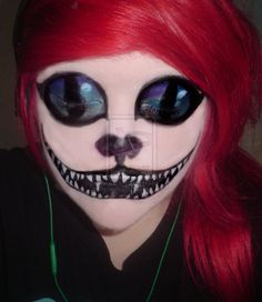 deviantART: More Like The Cheshire cat makeup by ~habbia PERFECT!