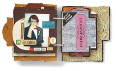 Upcycling Board Games to Create Mini Scrapbook Albums