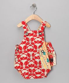 Take a look at this Red & Blue Reversible Bubble Bodysuit - Infant on zulily today!