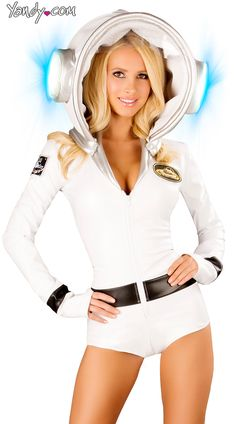fadba329448 Astronauty Romper And Light-up Helmet- $198.95 #Yandy #Halloween  #ProfessionCostumes Nasa