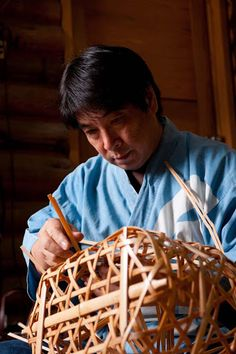 Masato Takae.  I saw how baskets being made when I lived in Japan
