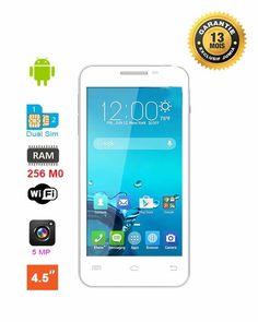 X-TIGI S1450 - Dual Sim - 4.5 Pouces - 5 Mégapixels - 256 Mb - 1.3 GHz - Blanc + Cover & MicroSD 8 Go Offert - Garantie 13 Mois | Acheter en ligne | Jumia Côte d'Ivoire
