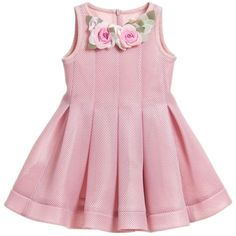 "Monnalisa Dusky Pink Neoprene Style Dress at <a href=""http://Childrensalon.com"" rel=""nofollow"" target=""_blank"">Childrensalon.com</a>"