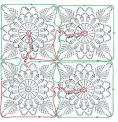 Gráfico unit crochet pattern