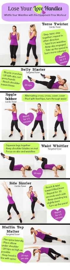 The 'Lose Your Love Handles' Workout: 6 Moves to Melt Your Muffin Top #maxhealthcare