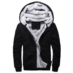 YUNY Mens Winter Standard-fit Waterproof Quilted Thicken Hooded Down Parka Black XL