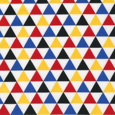 Remix Primary Triangles by Ann Kelle for Robert by FabricBubb, $8.50
