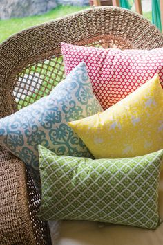 Excuse us while we go buy ALL of these printed cotton pillows.