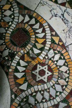 Mosaic Floor - Vatican Jewish Star of David?