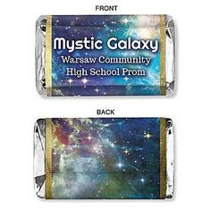 Our exclusive Mystic Galaxy Mini Candy Bar Wrapper feature a breath taking design of the stars of the universe.